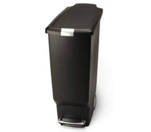 Κάδος Πλαστικός 40lt.CW1361 Slim Μαύρος Παραλ/Μος Με Πεντάλ